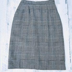 Vintage 70s Union Label Plaid Highwaisted Skirt